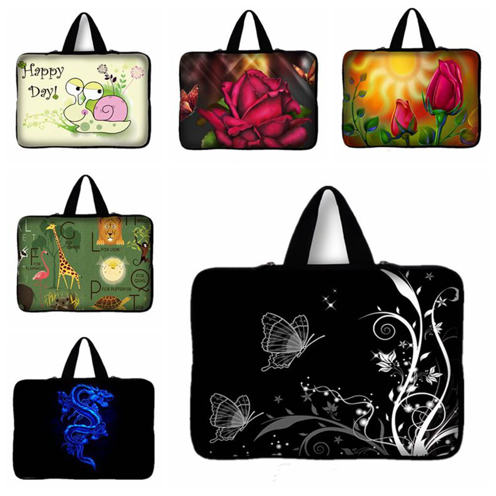13 13.3 inch Butterfly Snail Print laptop bag tablet sleeve case with handle PC handbag For Samsung Lenovo ASUS Acer HP