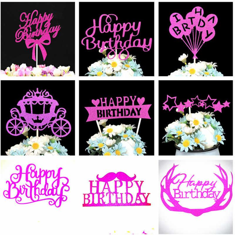 Украшения для торта, украшения на день рождения, детские украшения для кексов торт для детского праздника, вечерние украшения, счастливое украшение для именинного торта