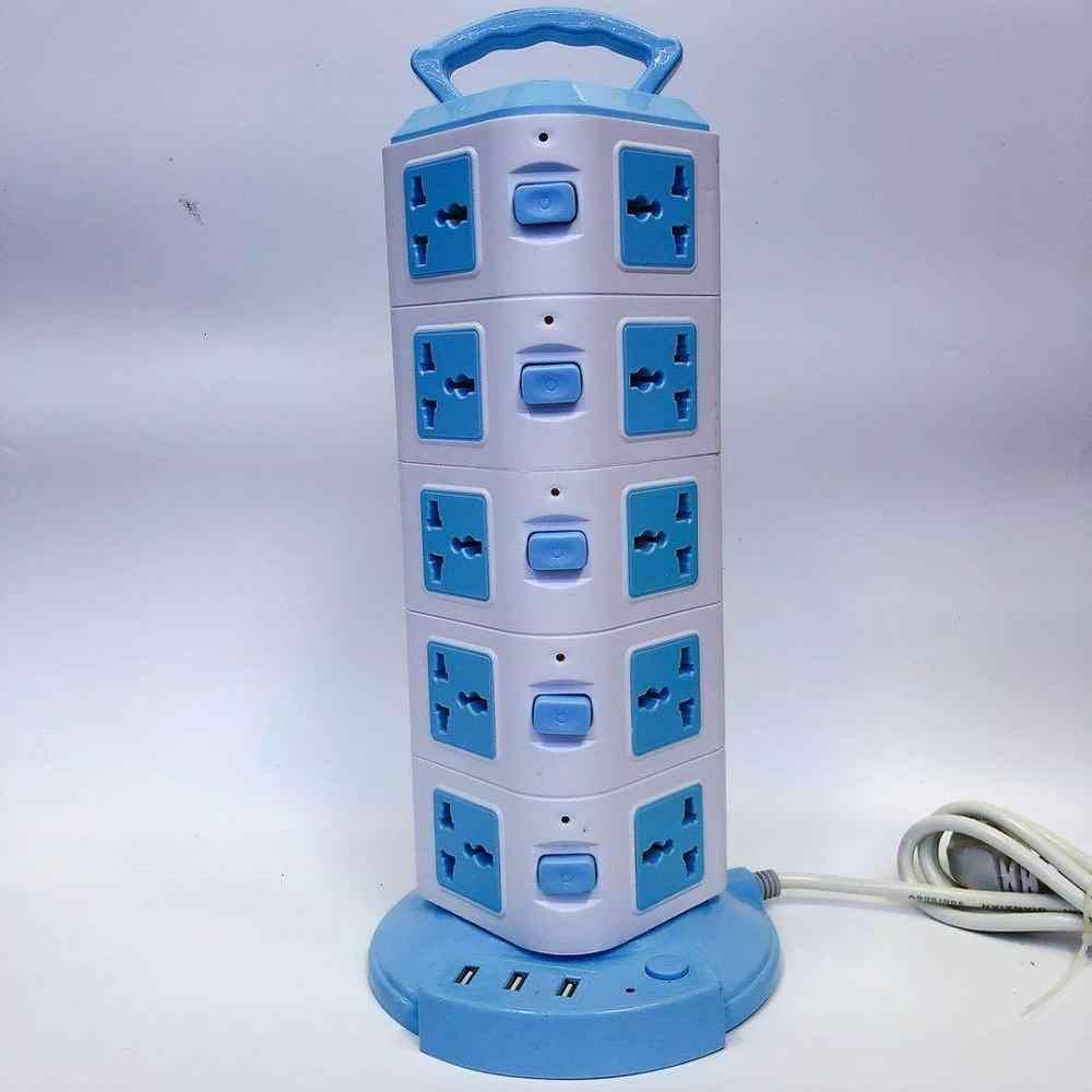 Pionowe gniazdo z listwa zasilająca z USB listwa zasilająca wieża komputerowa wielofunkcyjny płyta okablowania