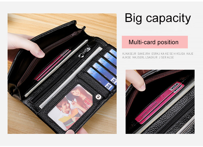 CICICUFF Brand 2019 New Genuine Leather Women Wallets Coin Purse Female Long Card Holder Lady Clutch Wallet with Phone Pockets