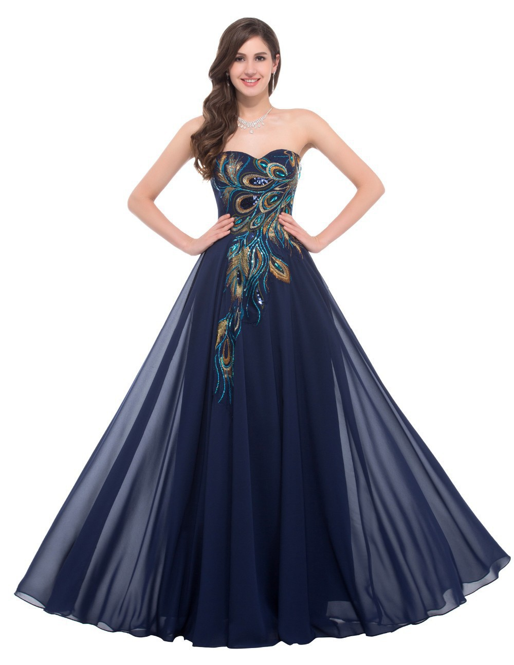 Buy peacock evening gown and get free shipping on AliExpress.com bfa2e47a4f37
