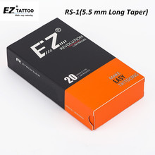 EZ Revolution Tattoo Needle Cartridge Round Shader  5.5 MM Long Taper Needles for System Machine & Grips