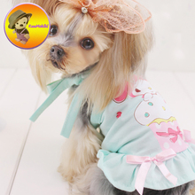 New Arrivals two colors Spring autumn Dog Dress Dresses Pet Skirt Skirts cat Clothing Supplies XS-XL Dog Pet Apparel clothing