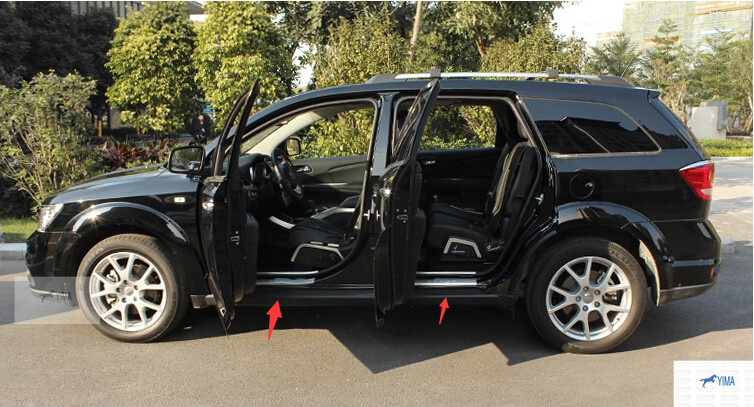 For Dodge Journey 2013 2014 Stainless Steel Inside & Outside Door Sill Scuff Plate 8 pcs / set саваж каталог осень зима 2013 2014