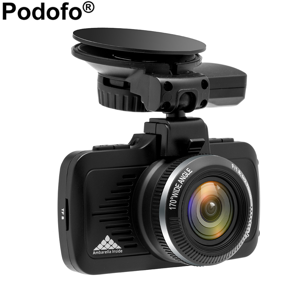 Podofo Ambarella A7LA50 Car DVR GPS 2 in 1 Car Camera DVRs Dashcam 1296P Night Vision Camcorder LDWS Video Recorder Registrator