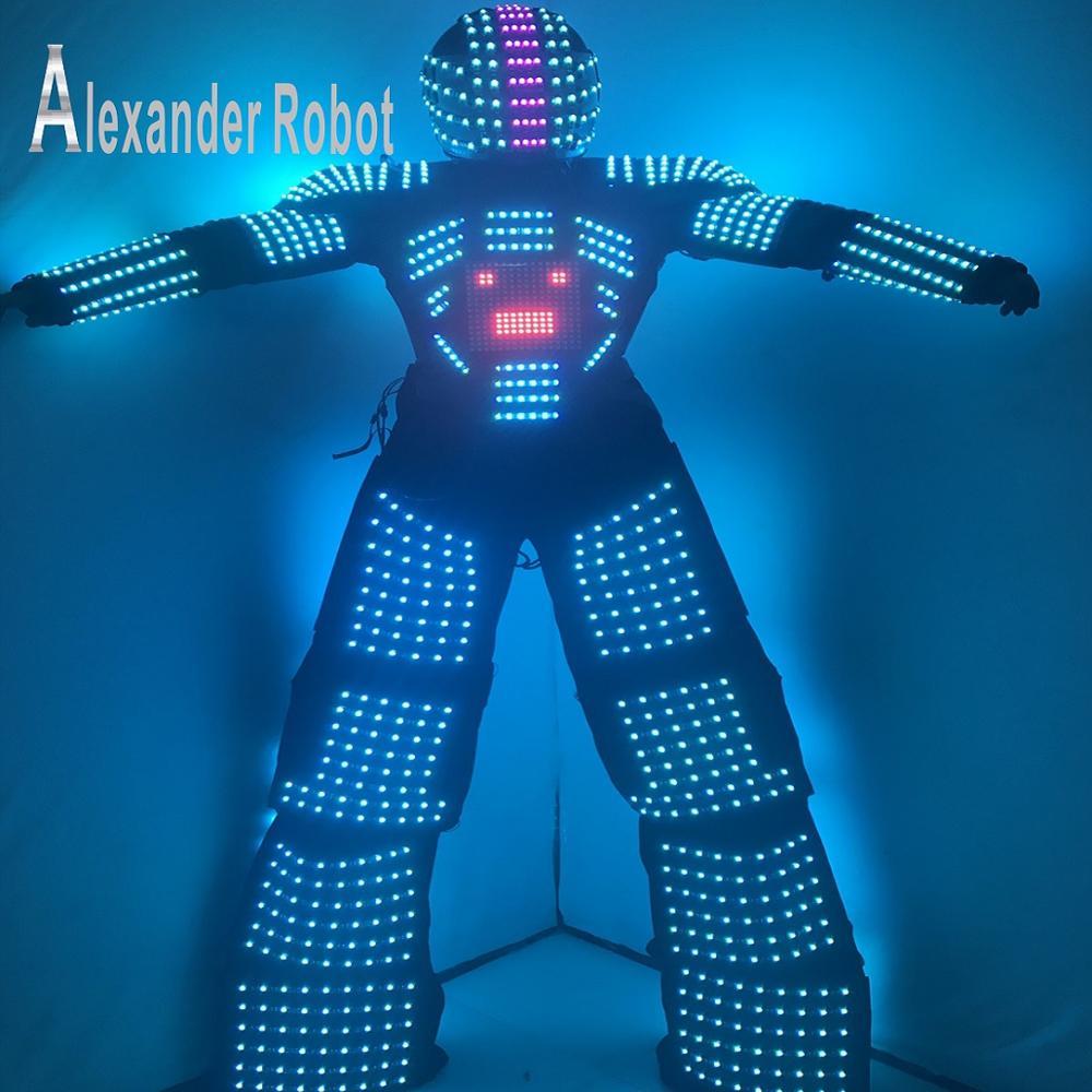 Kostým LED / Oblečení LED / Lehké kostýmy / Obleky LED Robot / Světelný kostým / LED svítilny