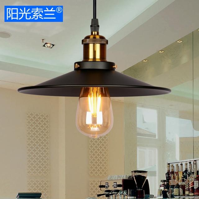 vintage pendant light loft pendant lamp hanging lamp black lampshade