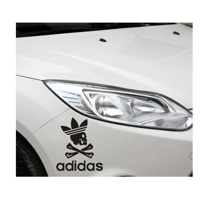 Schädel Persönlichkeit Reflektierende Auto Aufkleber Adidas
