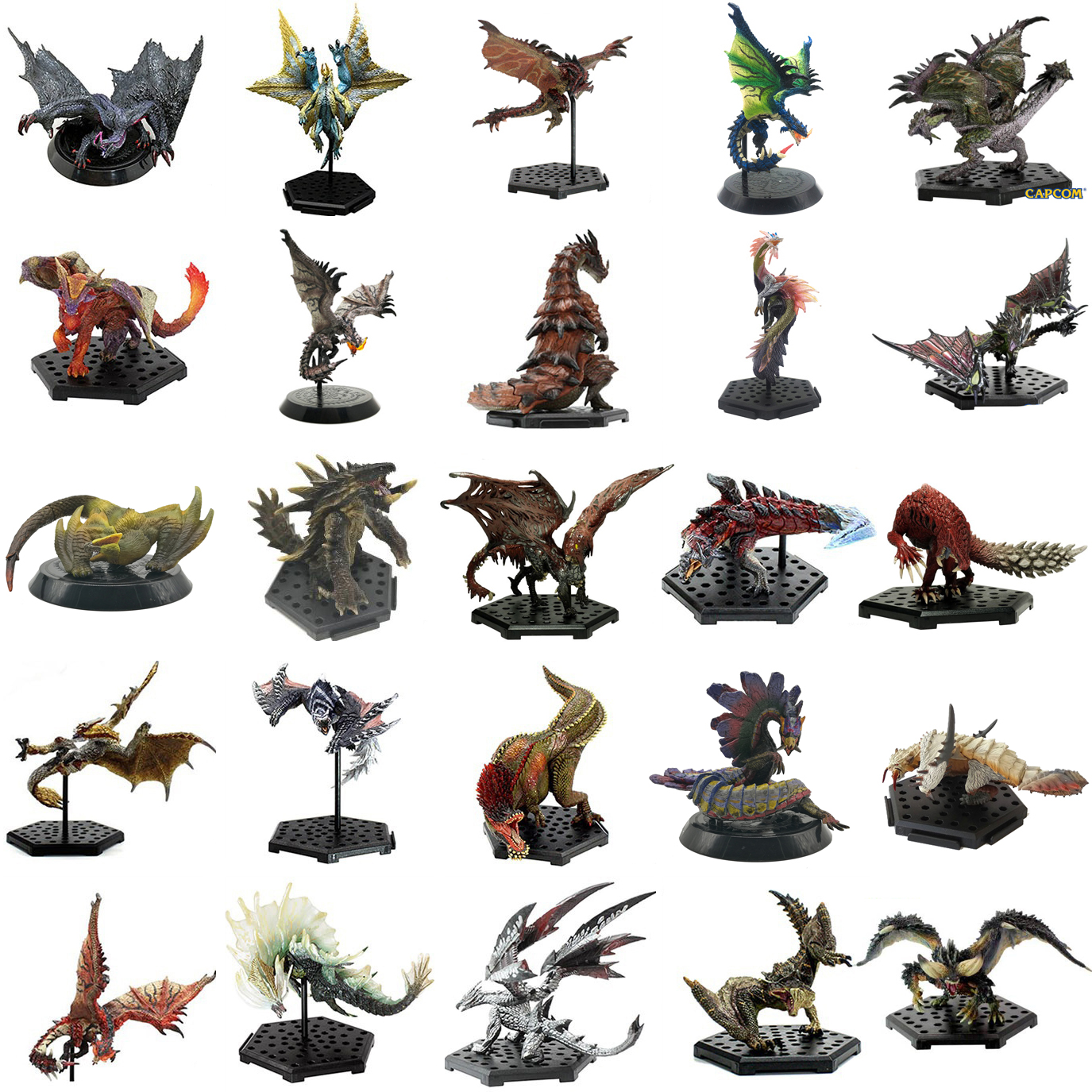 25PCS Japan Anime Monster Hunter XX Figure PVC Models Hot Dragon Action Figure Decoration Toy Model Collection цена