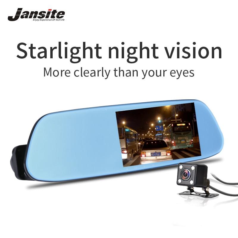 Jansite 5.0 Câmera Do Carro Super Revisão Espelho DVR Com Gravador de Vídeo Detector De ADAS de Visão Noturna Lente Dupla FHD 1080 p Traço Cam