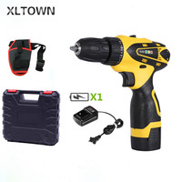 Xltown 16.8v two speed rechargeable lithium battery electric screwdriver with a plastic box electric screwdriver power tool