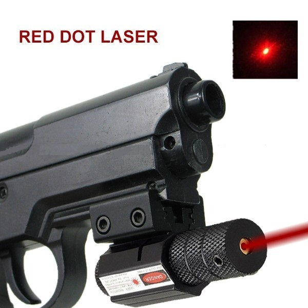 Powerful Tactical Red Dot Laser Sight Aluminum Laser Sight Scope Set for Rifle Pistol Shot