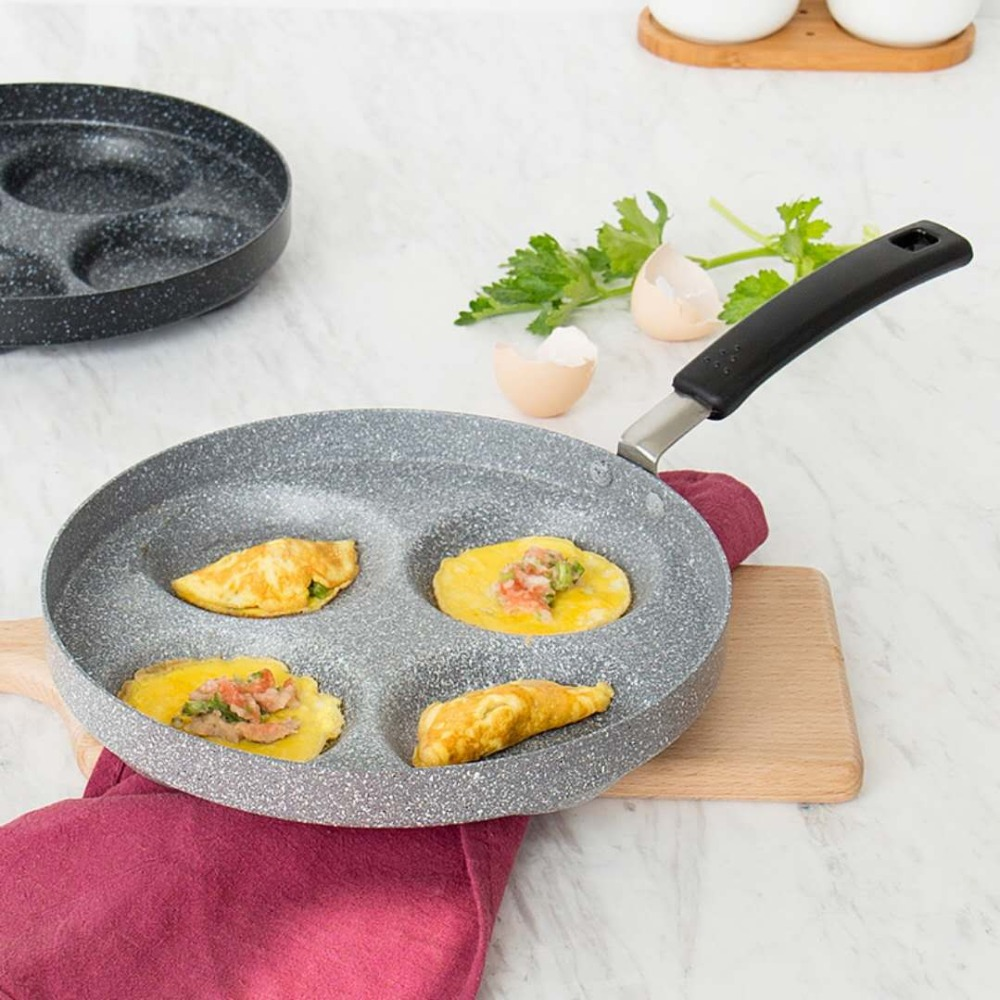 Non stick pan gas non stick omelette pot home porous omelette pan frying pan household small frying pan 3