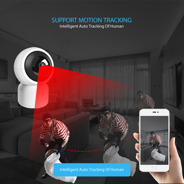 HD 1080P WIFI IP Camera 1.0MP 2MP Baby Monitor Auto Tracking Home Security WI-FI Cam PTZ Two Way Audio Surveillance CCTV Camera 3