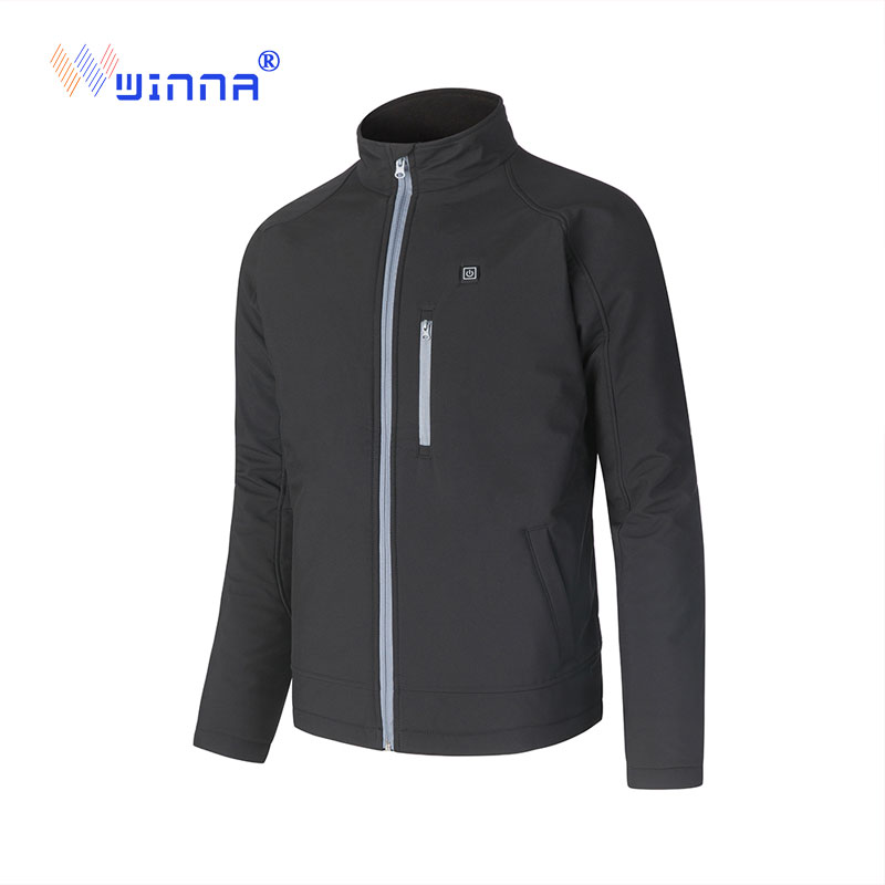 Best Gift Power Heating Jacket Winter Outdoor Camping Black Men Thick Jacket Charging Clothes China Factory Size M-XXL