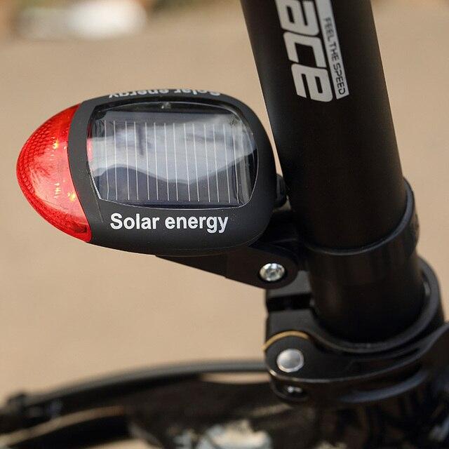 Luz LED trasera para bicicleta de montaña, 2 modos de iluminación Con 3 modos de potencia y alimentación por energía Solar, luz LED roja trasera MBI-21 deportes al exterior
