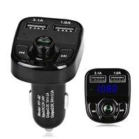 5 В 4.1A автомобиля Mp3 плеер Bluetooth fm-передатчик модулятор TF USB воспроизведения музыки Быстрый Зарядное устройство Напряжение Дисплей Беспровод...