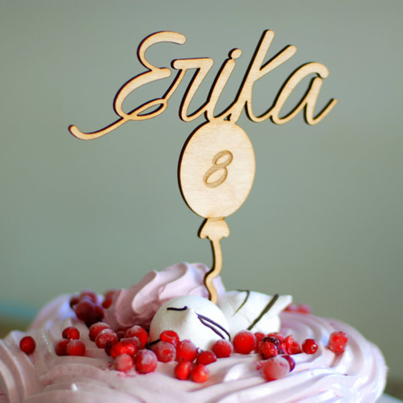 Custom Birthday Cake Topper Personalized Cake Banner Children Name