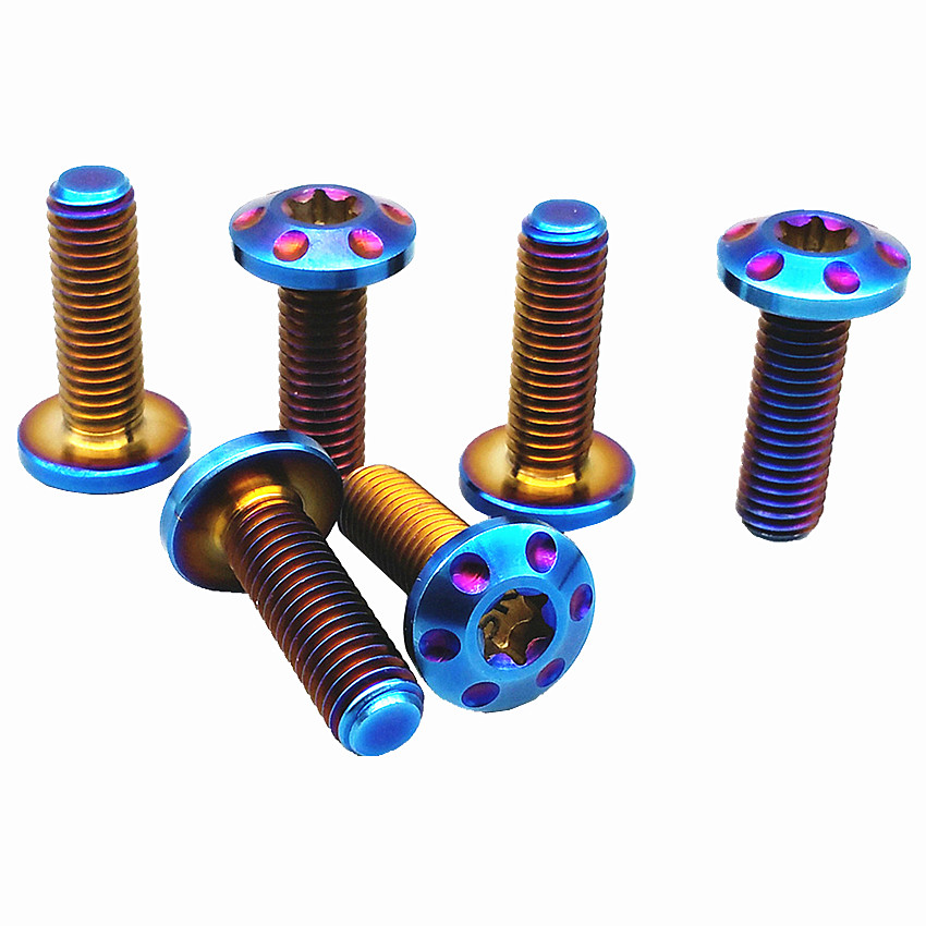 Titanium Bolt for Motorcycle Brake Disc M8 x20/25/30mm Burned Blue Color Ti Bolts Titanium Screws M8 Bolts Ti Fasteners 2/6pcs motorcycle trunk tail light brake turn signals with led case for honda goldwing gl1800 2006 2011