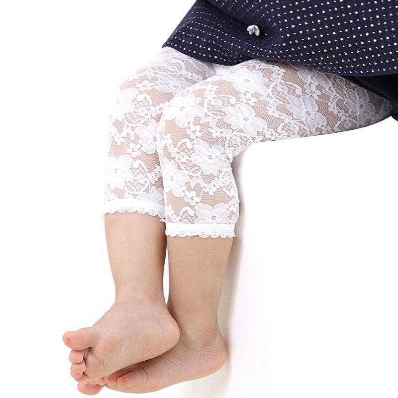 Baby Girls Leggings Summer Lace Pants Children Capris Getry Leginsy Bimba Estivi Leggins For Baby Girl Kiz Cocuk Tayt Lace Legin