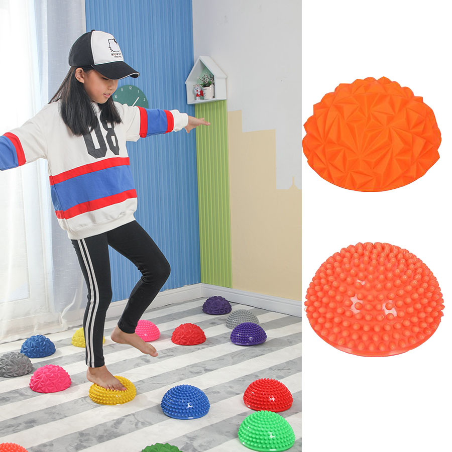 Children Hemisphere Stepping Stones Durian Spiky Massage balance Ball Sensory Integration balance toys new stepping stones coursebook global no 3 new stepping stones