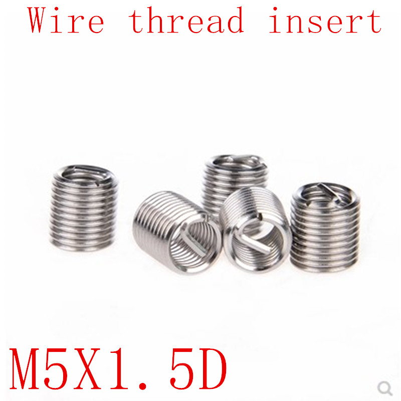 80 PCS M5 M6 M8 M10 M12 Stainless Steel Helicoil Wire Thread Screw Inserts Repar