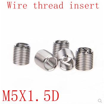 50 sztuk M5 * 0 8 * 1 5D wątek nici z drutu ze stali nierdzewnej 304 z drutu m5 śruba tuleja Helicoil nici wkładki do naprawy tanie i dobre opinie Drzewa wstaw Obróbka metali M5X0 8X1 5D stainless steel