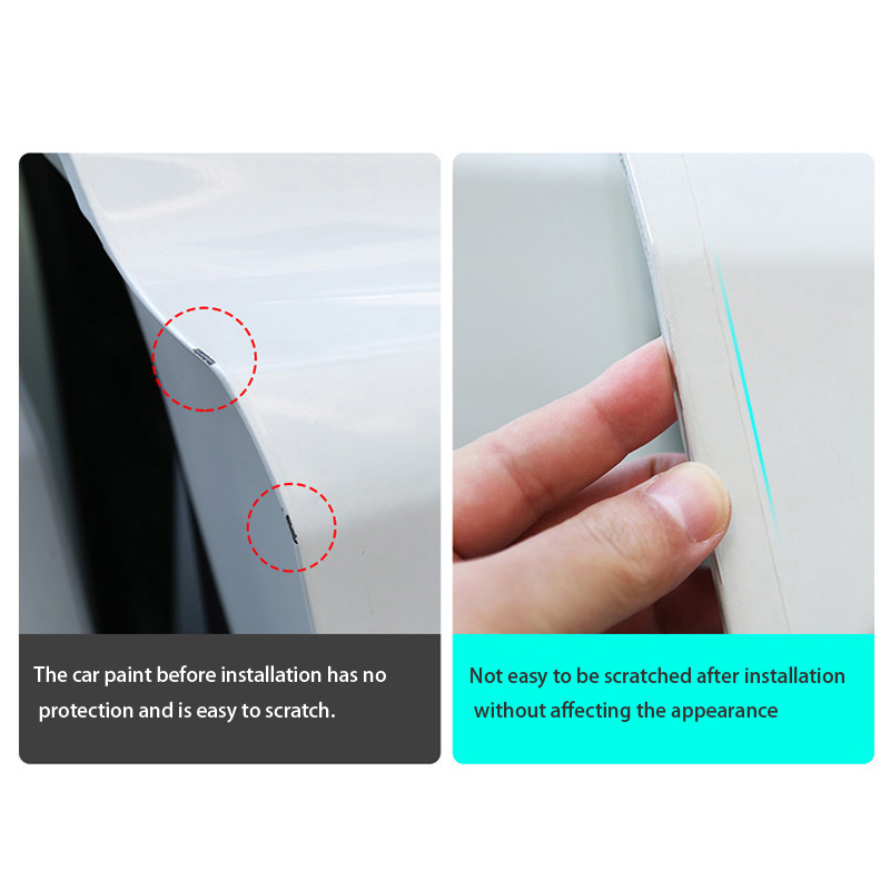 Image 2 - Car Door Edge Protector Sticker Strip PVC Film Transparent Anti Collision Edge Guard Scratch Protector Rubber Seal Auto Guard-in Car Stickers from Automobiles & Motorcycles