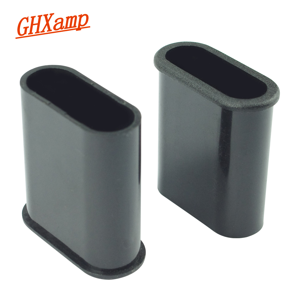 GHXAMP 37mm*16mm Oval Guide Tube Speaker Phase Tube Suitable For 2.5-4 Inch Speakers New ABS Plastic 2pcs