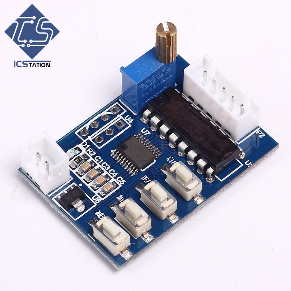 Stepping Motor Drive Controller Board Speed Control 5-24V for 24BYJ48/28BYJ48 Motor Stepless Speed Regulation Potentiometer