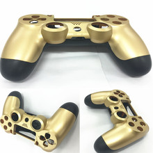 Front+Back Housing Shell Case Upper Under Cover Protector Skin for Sony PlayStation 4 PS4 Gaming Controller Golden Color
