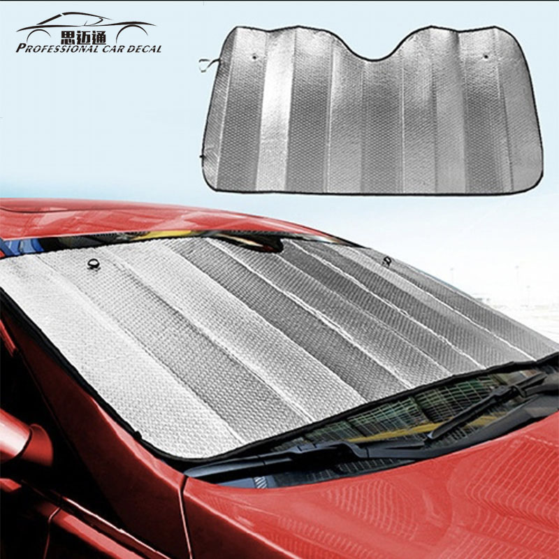 Car Windshield Visor Cover Sun Block Sunshade Auto Summer Decal Sunshade Film 130*60cm Sun Shield Visor For Ford Vw Kia Lada