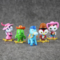 5pcs/lot Anime Sheriff Callie's Wild West Toy Sheriff Callie Cat Toby Horse Peck PVC Action Figure Doll Toy