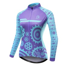 MTSPS Women Cycling Jersey Mtb Bicycle Clothes Ciclismo Long Sleeves Jersey Road Riding Shirt Female Road Bike Cycling Clothing