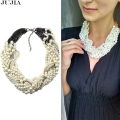2017 New fashion  collar necklace & pendant chunky luxury choker imitation pearl Necklace statement mujer moda  jewelry