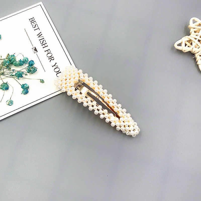 Grampo de cabelo pérola conjunto concha barrettes 2019 moda coréia imitiation para meninas flores artesanais hairpins acessórios para o cabelo