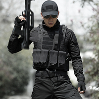 Outdoor Men's Hunting Vest Army Military Tactical Accessories Male Combat CS Equipment Molle Airsoft Black Vest for Men Hunter