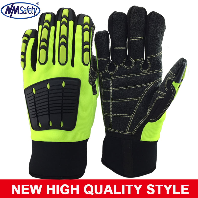 2017 New NMSafety Anti Vibration Safety Glove Vibration and Shock Resistant Glove Anti Impact Mechanics Work Glove wholesale 20 x pc case fan silicone anti vibration shock absorption noise reduction screws dropshipping