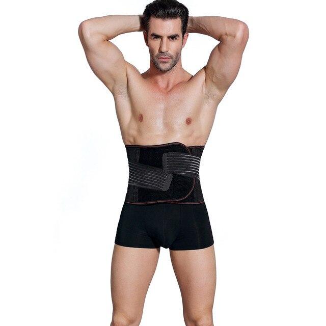Men Body Shapers Belt Compression Corset Slimming Belts Fitness Girdle Waist Cincher Waist Trimmer Abdomen Fat Burning Tummy 2