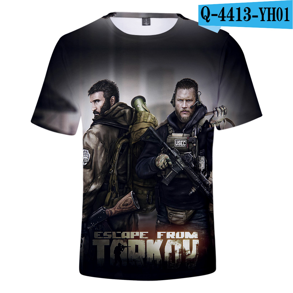 2019 Fashion 3D t shirt Escape From Tarkov Men/Women T-shirt Escape From Tarkov 3D t shirt Short sleeve Summer Super Online Game 1