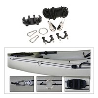 Pad Eye Anchor Trolley Kit for kayak DIY Kayak Anchor Trolley Cleat Kit Set With Well Nuts Stainless Steel Screws Rivets