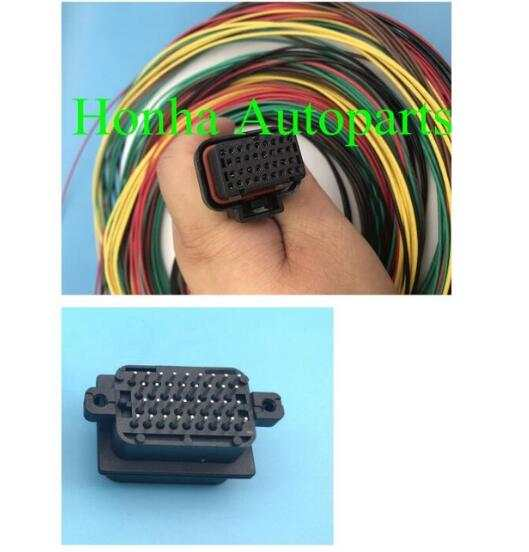 1 set free shipping wire harness Motec/Haltech ECU 34 PIN Connector Haltech Wire Harness on