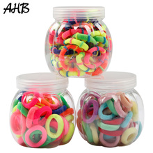 AHB 50pcs/lot Hair Accessories Rubber Band for Girls Gum Scrunchies Ponytail Holder Elastic Ropes Kids Headwear