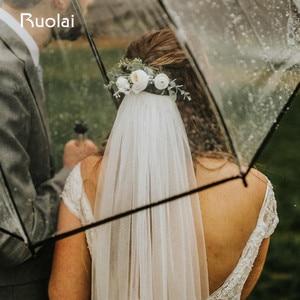 Image 2 - Boho Wedding Hair Accessories Woodland Flower Hair Comb Bridal Headwear Handmade Wedding Jewelry Headpiece Crown Women HD11