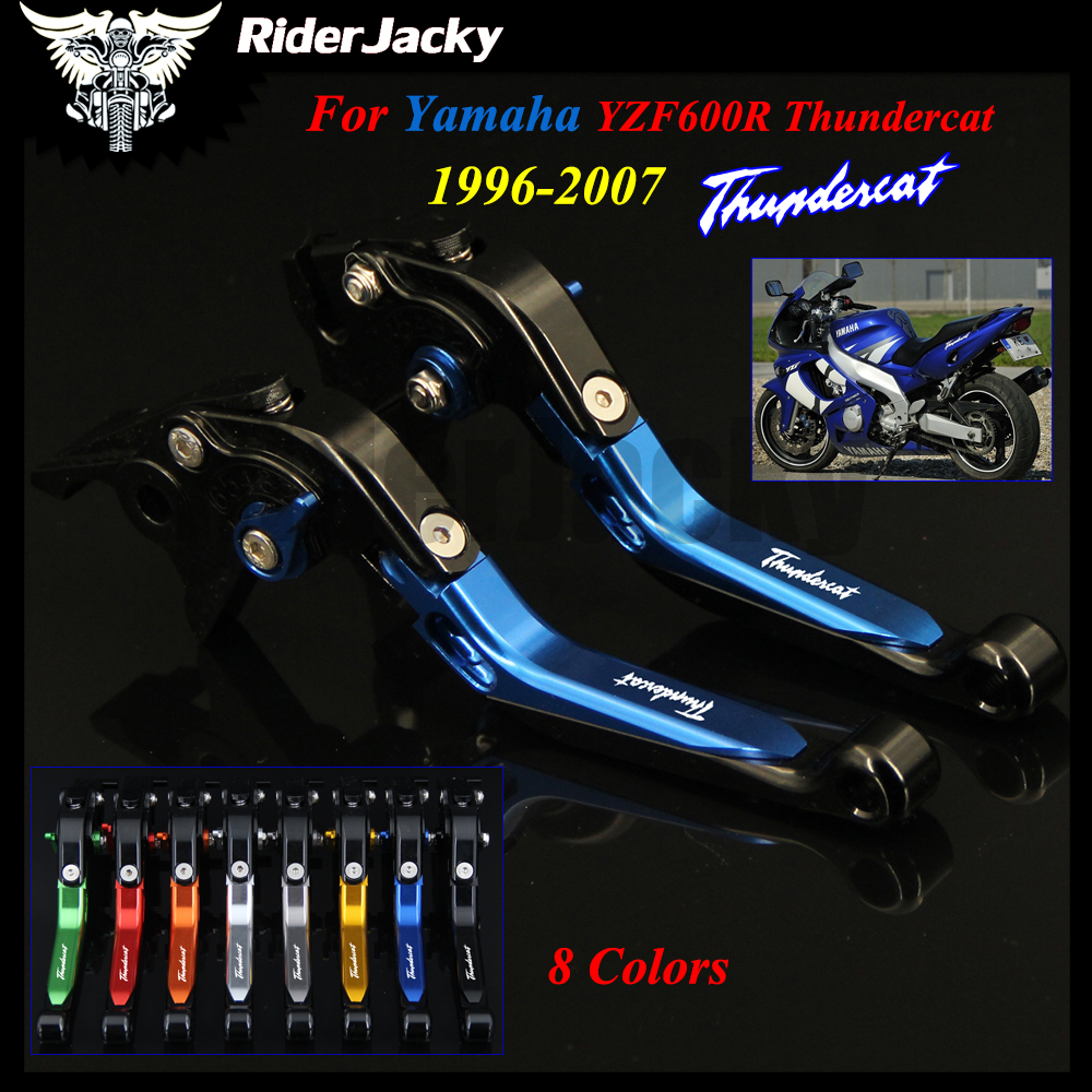 For YAMAHA YZF600R Thundercat 1996-2007 1997 1998 1999 2000 Blue+Black Motorcycle Accessories CNC Adjustable Brake Clutch Lever for yamaha yzf r15 2013 2016 aluminum cnc adjustable extending brake clutch lever blue