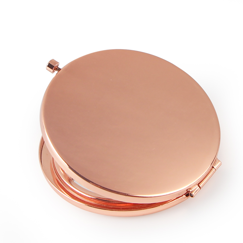 Hollow rose gold compact mirror (5)