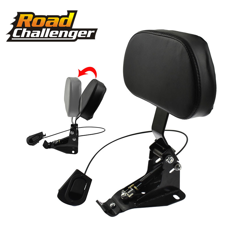 Detachable Adjustable Rider Backrest w/ Mounting Kits For Harley Touring Road King Street Glide FLHR FLHX FLTRX