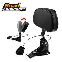 Detachable Adjustable Rider Backrest w/ Mounting Kits For Harley Touring Road King Street Glide FLHR FLHX FLTRX