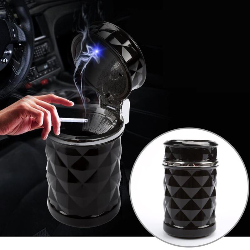 Durable-Portable-Car-Ashtray-ceniceros-Car-Interiors-Frame-Set-Black-Dolly-Travel-Cigarette-Ash-Holder-LED