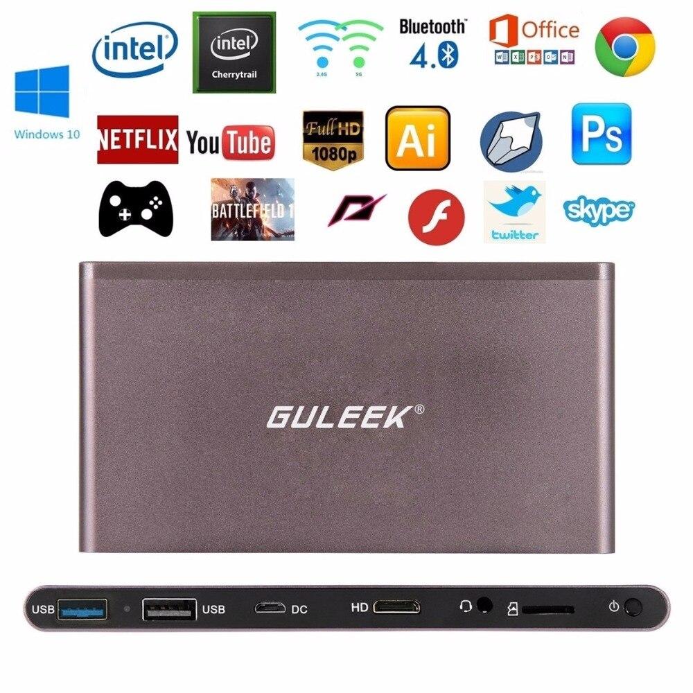 GULEEK GPC Mini PC Win10 Intel Cherry Trail Z8300 Quad Core WiFi Windows PC 1080P Mutipal